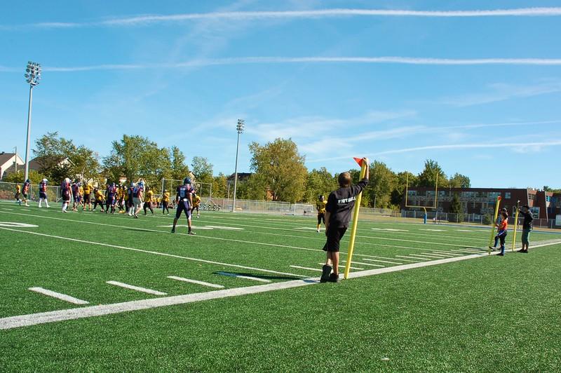 Une belle journée pour un match de football