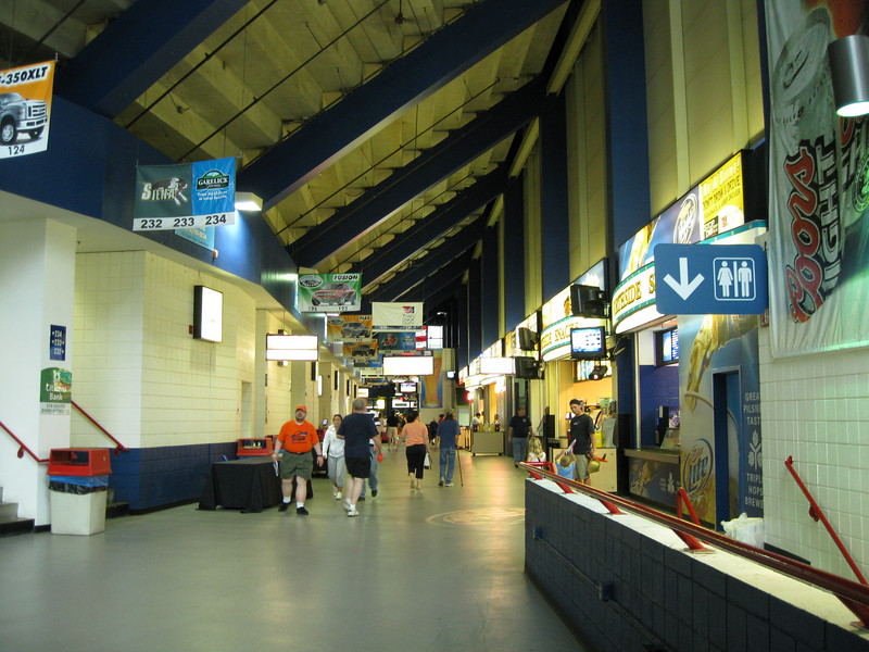 Inside the Times Union Center concourse.