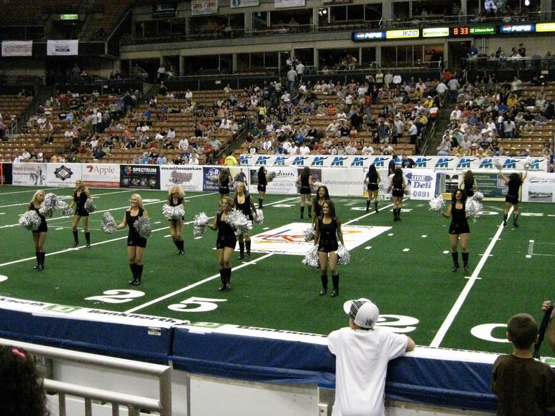 Half-time dance team dance.