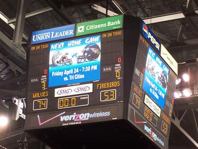 The final score.