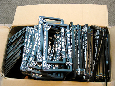 The free giveaway was license plate frames.
