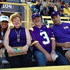 Heather, Pat, Alan and Mark in the stands.