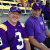 Alan and Mark in the stands.