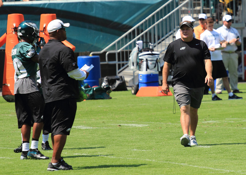 Asst. Coach / Past Player Duce Staley #22 & Head Coach Chip Kelly