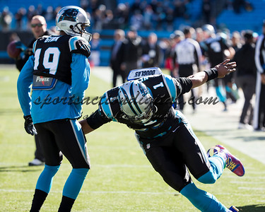 Carolina Panthers quarterback Cam Newton (1), Carolina Panthers wide receiver Ted Ginn (19)
