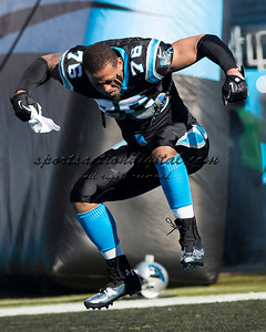 Carolina Panthers defensive end Greg Hardy (76)