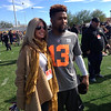 Odell and Laura Okmin, an NFL sideline reporter for FOX.