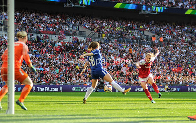 The SSE Womens FA Cup Final, Arsenal v Chelsea, Wembley Stadium, May 5th 2018