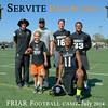 AJ Gass (Head Coach) , Ryan Kalil (Carolina Panthers),  Players Joe Ferraro, Havili Eteaki, Travis Waller, and Participant