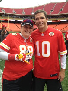 Me and my QB Trent Green.