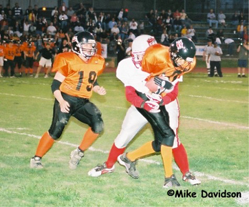 My first Tackle as TE after a pic.