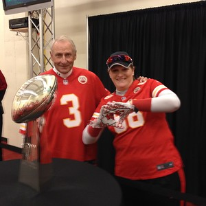 Jan Stenerud and the real Super Bowl 4 trophy