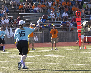 Throwing downfield for a TD