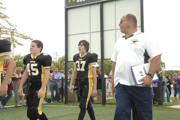 Mustang Football Opening day team pix n Parade