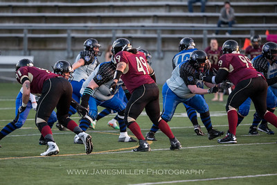 Offensive Line in Action