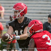 Jake Fromm (11) hands of to Zamir White (3)