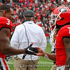 Zamir White (3) and D'Andre Swift (7)