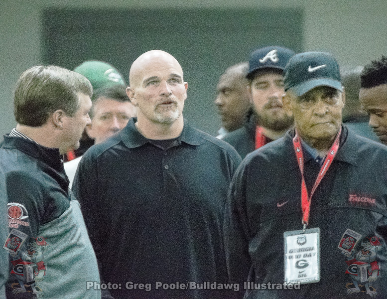 Kirby Smart and Dan Quinn - 2018 UGA Pro Day - March 21, 2018