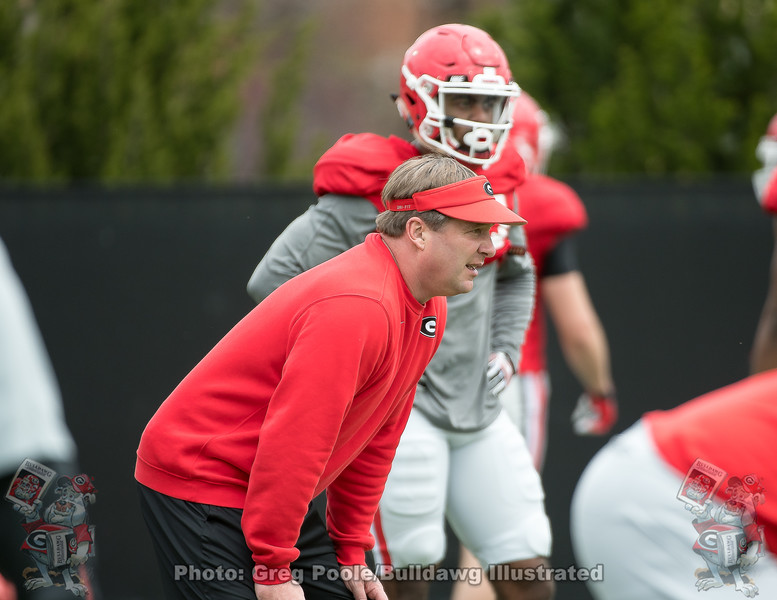 Kirby Smart  - UGA Spring Practice Day 2 - March 24, 2018