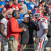 Tae Crowder (30) with Kirby Smart and Mel Tucker