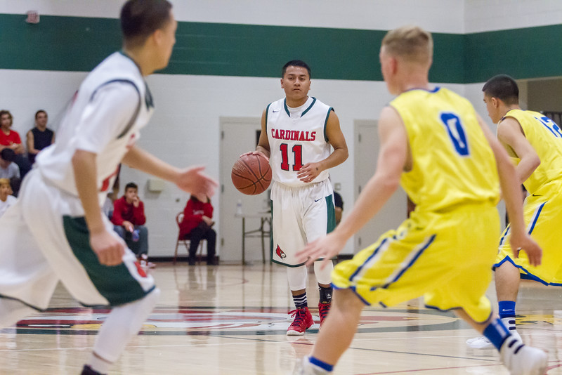 The Lindsay Cardinals scored a 60-52 victory over the Corcoran Panthers to improve their record to 6-3 in ESL play.