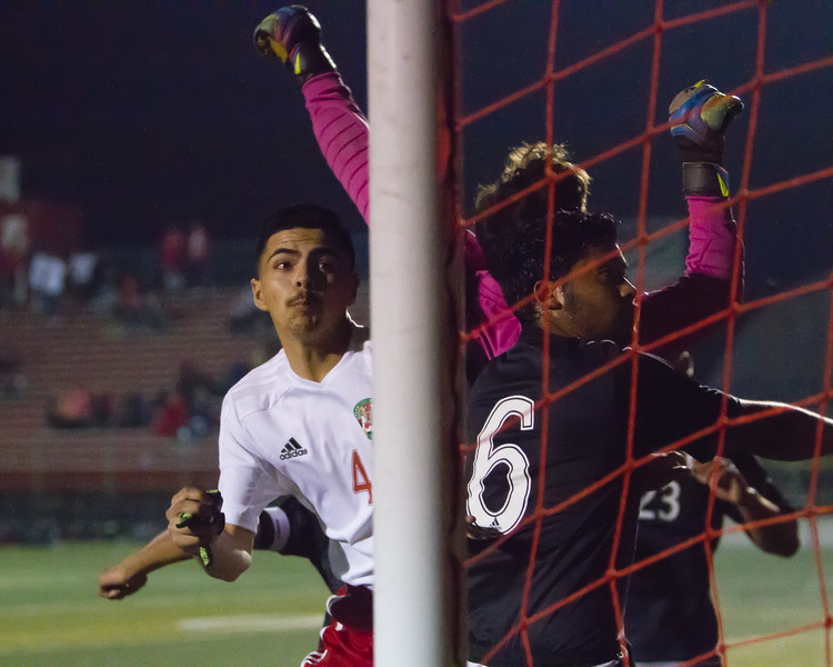 The Lindsay Cardinal boys soccer team ran their East Sequoia League record to 10-0 with a 3-0 win over the visiting Woodlake Tigers.