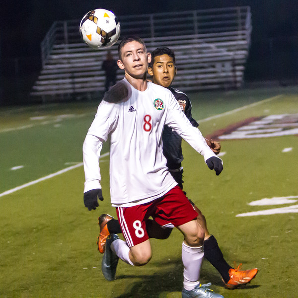 The Lindsay Cardinal boys soccer team ran their East Sequoia League record to 10-0 with a 3-0 win over the visiting Woodlake Tigers. Cardinal Ivan Ceballos (8) in ESL play.