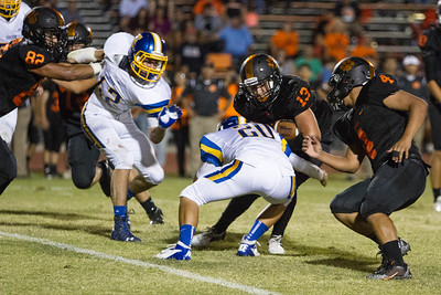 Exeter went to 2-0 with a 26-13 win over the Woodlake Tigers.