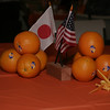 Table center pieces at the Lindsay/Ono Sister City Teriyaki Dinner celebrated each culture.