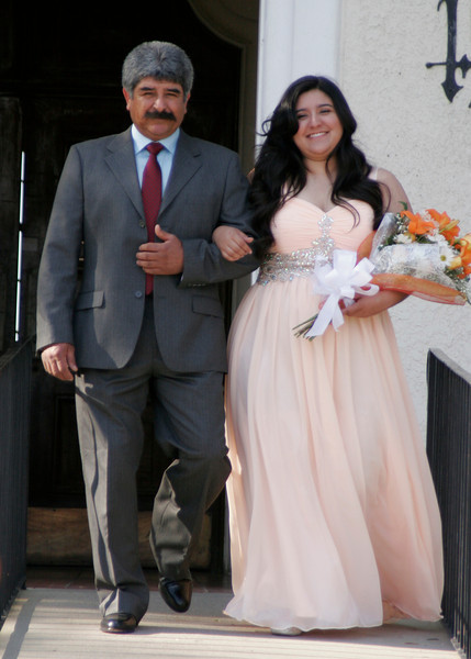 Orange Blosson Festival Queen Jocelyn Jauregui was escorted at the 2014 OBF Coronation Ceremony by her father Jose Jauregui.
