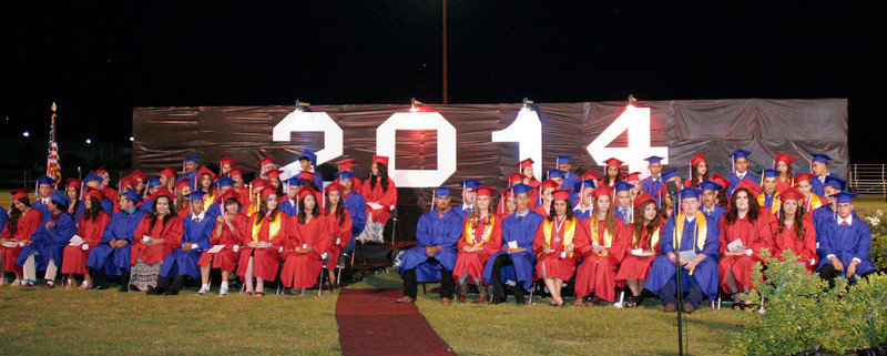 Strathmore High School 2014 Graduating class at the Spartan's 2014 Commencement Ceremony.
