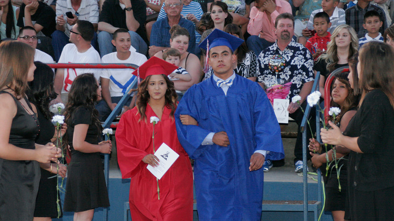 2014 Strathmore High School graduates entering Spartan Stadium during the Commence Ceremony on Friday, May 23, 2014.