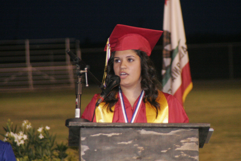 Jacqueline Lemus reflects on the journey of her Strathmore Spartan classmates during the 2014 Strathmore High School graduation ceremony.
