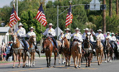 The Tulare County Sheriff's Mounted Partol unit participated in the 2014 Woodlake Lions Rodeo Parade.