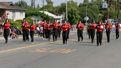 The Woodlake Elememtary School band marches down Valencia Blvd. during the Woodlake Lions Rodeo Parade.