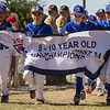 The Exeter 9-10 Little League All-Star Team enters during the opening ceremonies of the Little League 2015 Northern California 9-10 Baseball Championship which is being played all week at Dobson Field in Exeter.