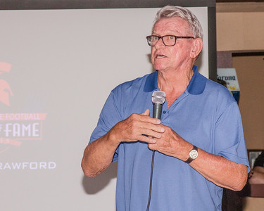 A major supporter of Strathmore High School for over half a century, Jerry Crawford was inducted into the first class of the Strathmore Football Hall of Fame during a ceremony on August 8, 2015.
