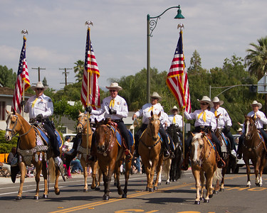 The Tulare County Sheriff's Mounted Posse participated in the 2015 Woodlake Lions Rodeo parade.