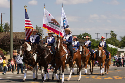 One of the many mounted units that performed in the 2015 Woodlake Lions Rodeo parade.
