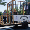 Participants in the 2016 Lindsay Orange Blossom Festival parade. Once a staple of the Orange Blossom Festival, in honor of this year's parade theme, Celebrating our Roots, the Whiskerino Jail was one again open for business in the 2016 OBF parade. Proceeds benefited the Lindsay Fire Museum.