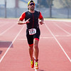 Michael Kezian (bib 151) of Los Angeles was the overall male sprint distance winner of the 3rd Annual Rocky Hill Triathlon held this past Saturday, March 11th in Exeter.