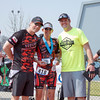 Visalia's Teresa Lovero, of the Sequoia Orange team, was the overall winner of the women's Olympic distance of the 3rd Annual Rocky Hill Triathlon. Teresa is flanked by fellow Sequoia Orange member James Wilson and Race Director Charles Duby.