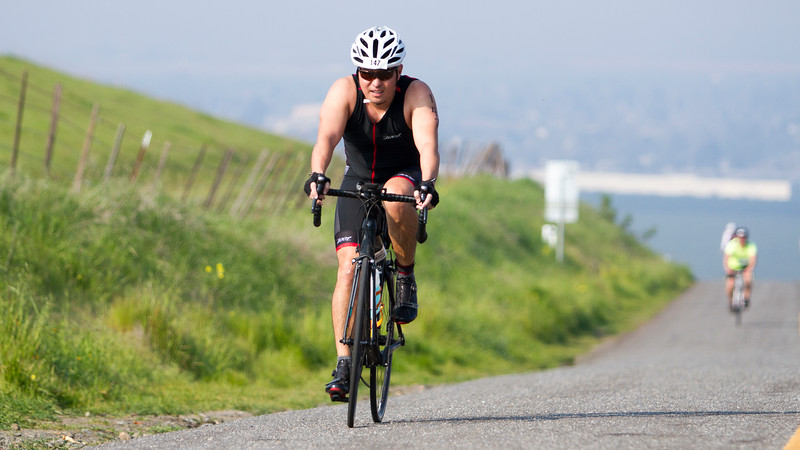 Russell Suemoto of Dinuba competed in the sprint distance of the 3rd Annual Rocky Hill Triathlon.