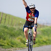 Trevor Dieterle of San Luis Obispo celebrates reaching the top of Rocky Hill during the 3rd Annual Rocky Hill Triathlon.