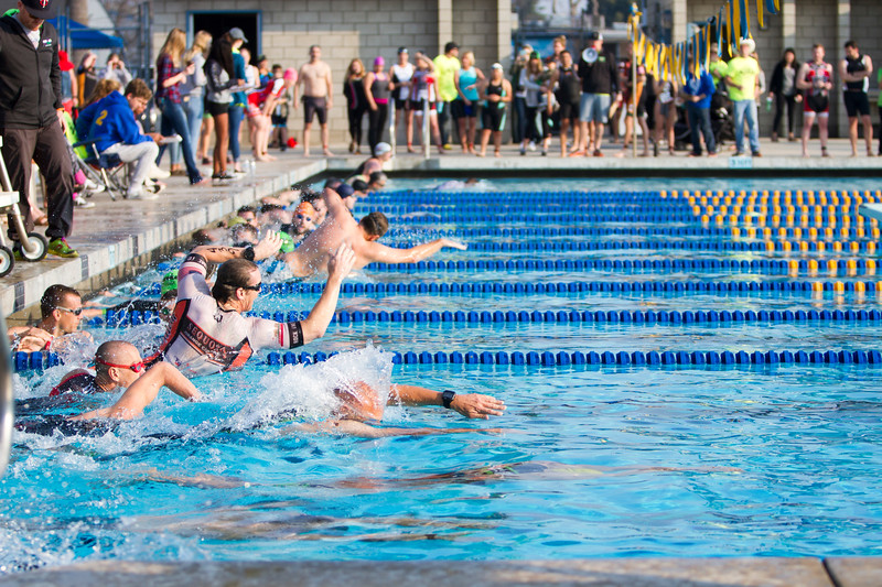 The Men's Olympic distance swim of the 3rd Annual Rocky Hill Triathlon started promptly at 8:00a on Saturday, March 11th.