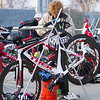 Participants prepare their bicycles for the 3rd Annual Rocky Hill Triathlon held in Exeter on Saturday, March 11, 2017.