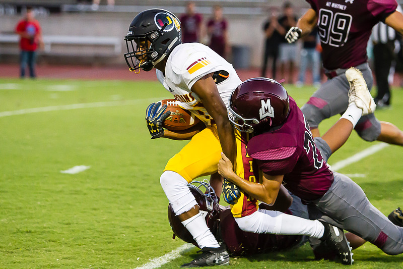 The Tulare Union Redskins scored early and often in route to a 57-6 victory over the host Mt. Whitney Pioneer in each team's season opener on Friday, August 23rd.