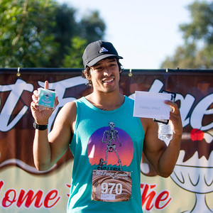 The  overall men' s winner of the 2nd Annual Visalia Hot Fudge Sundae Run was Carlos Cota (970) of Yorba Linda, Ca in a tme of  17:56.9. Mr. Cota's winnings included a medal, a made to order ice cream sundae, and $50 cash.