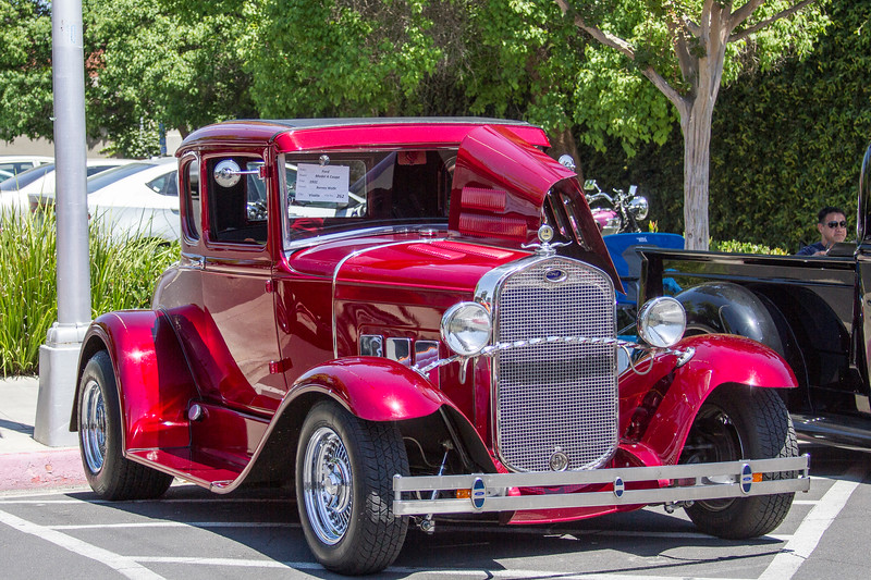 "This 1931 Ford Model ""A"" Coupe was one of the 300+ vehicles on display at Saturday's 29th Annual Downtown Visalia Cart Show."