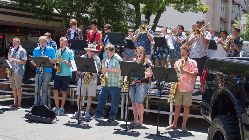 A local band was on hand to entertain the crowds at the 29th Annual Downtown Visalia Car Show.